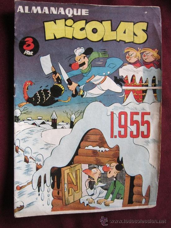 ALMANAQUE NICOLAS 1955. EDITORIAL CLIPER. BASTANTE BUENO (Tebeos y Comics - Cliper - Nicolas)