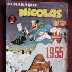 Tebeos: ALMANAQUE NICOLAS 1955. EDITORIAL CLIPER. BASTANTE BUENO. Lote 38634355