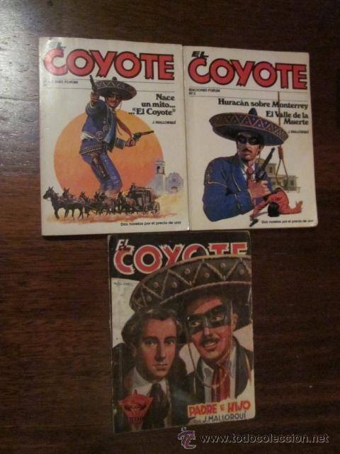 LOTE DE 3 NOVELAS DEL COYOTE (Tebeos y Comics - Cliper - El Coyote)