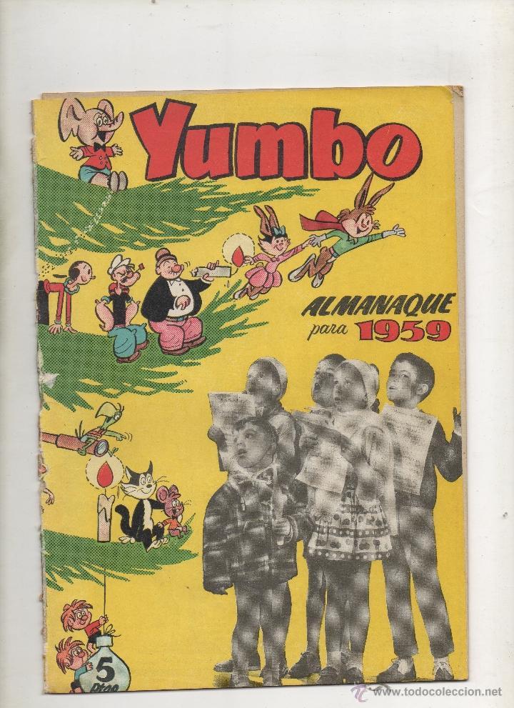 YUMBO ALMANAQUE 1959 . CLIPER (Tebeos y Comics - Cliper - Yumbo)