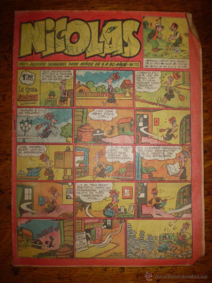 NICOLAS Nº 112 - AÑO V - EDICIONES CLIPER - (Tebeos y Comics - Cliper - Nicolas)