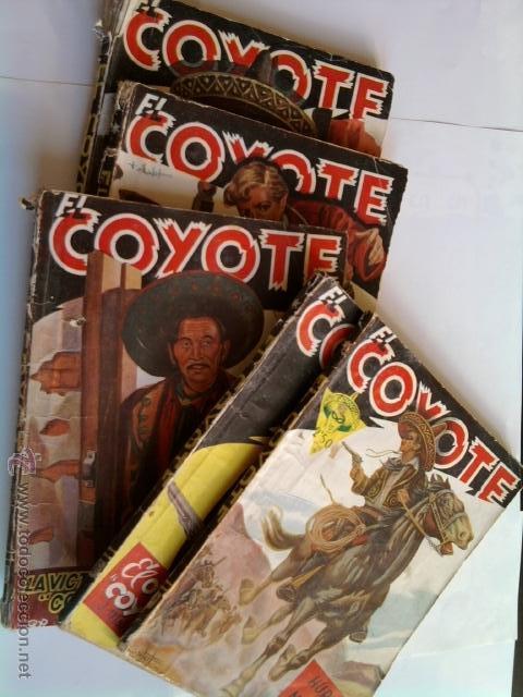 LOTE 5 NOVELAS DE 'EL COYOTE' -1945-46 (Tebeos y Comics - Cliper - El Coyote)