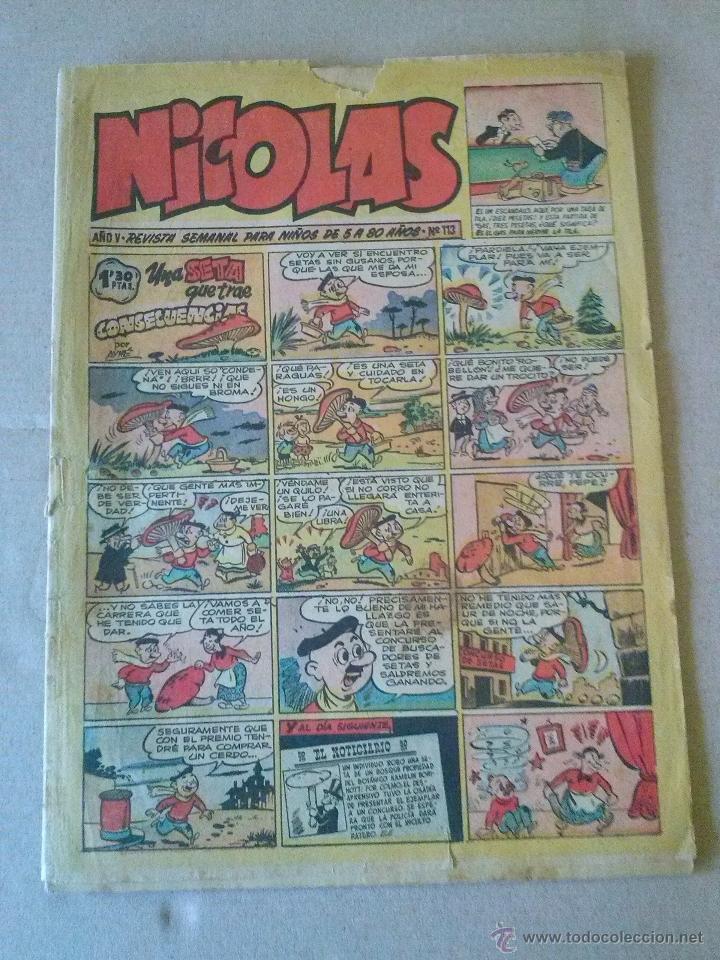 NICOLAS Nº 113 - CLIPER -GERPLA (Tebeos y Comics - Cliper - Nicolas)