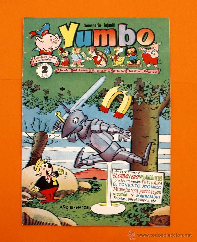 YUMBO Nº 128 - SEMANARIO INFANTIL - GERPLA - (Tebeos y Comics - Cliper - Yumbo)
