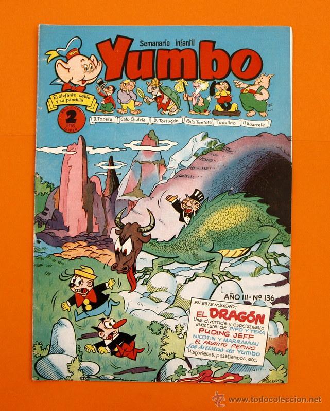 YUMBO Nº 136 - SEMANARIO INFANTIL - GERPLA - (Tebeos y Comics - Cliper - Yumbo)