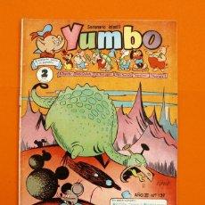 Tebeos: YUMBO Nº 139 - SEMANARIO INFANTIL - GERPLA -. Lote 45203084