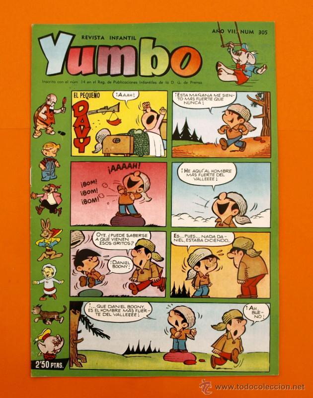 YUMBO Nº 305 - SEMANARIO INFANTIL - GERPLA - (Tebeos y Comics - Cliper - Yumbo)