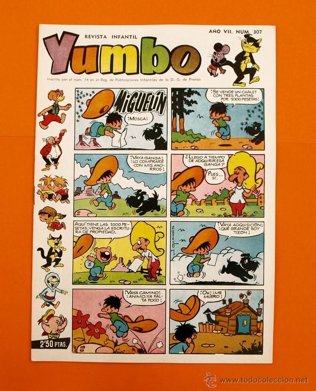 YUMBO Nº 307 - SEMANARIO INFANTIL - GERPLA - (Tebeos y Comics - Cliper - Yumbo)