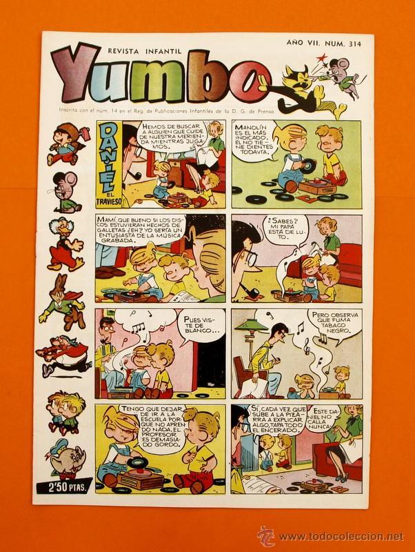 YUMBO Nº 314 - SEMANARIO INFANTIL - GERPLA - (Tebeos y Comics - Cliper - Yumbo)