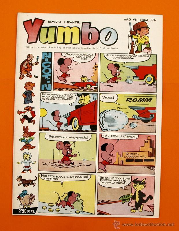 YUMBO Nº 326 - SEMANARIO INFANTIL - GERPLA - (Tebeos y Comics - Cliper - Yumbo)