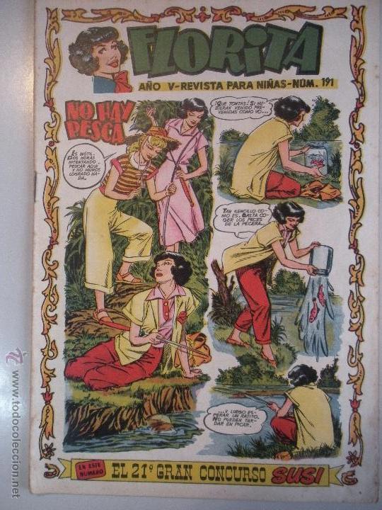 - FLORITA - REVISTA PARA NIÑAS-Nº 191 - AÑO V - DE EDICIONES CLIPER - ORIGINAL -DE LOS AÑOS 50 - (Tebeos y Comics - Cliper - Florita)