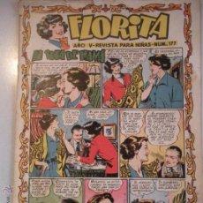 Tebeos: - FLORITA - REVISTA PARA NIÑAS-Nº 177 - AÑO V - DE EDICIONES CLIPER - ORIGINAL -DE LOS AÑOS 50 -. Lote 46610033