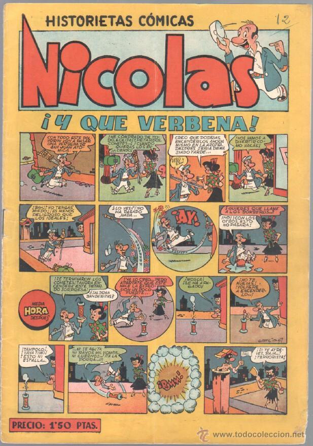 NICOLAS Nº 14 ORIGINAL EDICIONES CLIPER 1948 (Tebeos y Comics - Cliper - Nicolas)