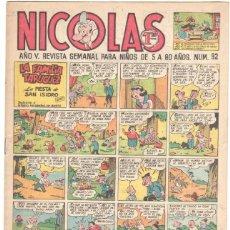 Tebeos: NICOLAS Nº 92 ORIGINAL EDICIONES CLIPER 1948. Lote 46930518