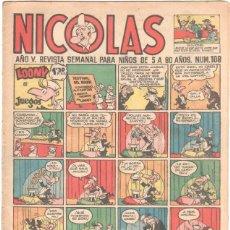Tebeos: NICOLAS Nº 108 ORIGINAL EDICIONES CLIPER 1948. Lote 46948903