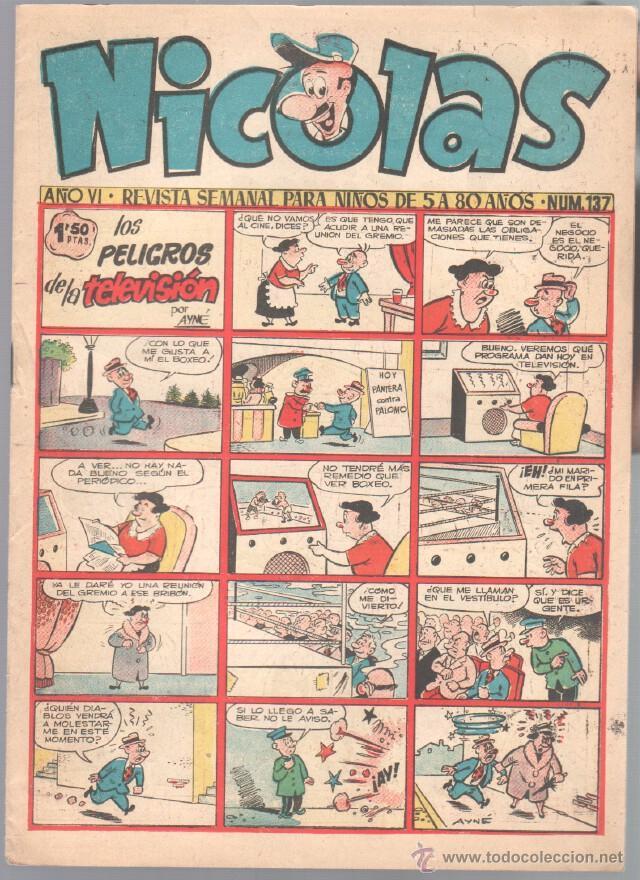 NICOLAS Nº 137 ORIGINAL EDICIONES CLIPER 1948 (Tebeos y Comics - Cliper - Nicolas)