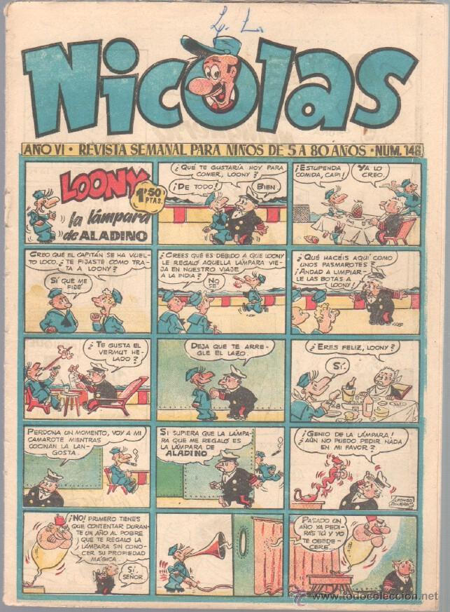 NICOLAS Nº 146 ORIGINAL EDICIONES CLIPER 1948 (Tebeos y Comics - Cliper - Nicolas)