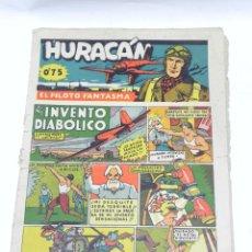 Tebeos: HURACAN, EL PILOTO FANTASMA Nº 6 - ED. GERPLA, CISNE - CON CELO EN EL LOMO.. Lote 47279902