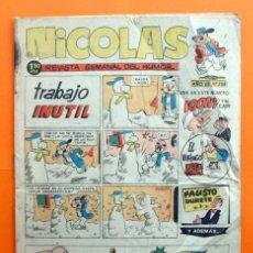Tebeos: NICOLAS AÑO VII Nº 228 - EDITORIAL CLIPER 1948 - REVISTA SEMANAL DEL HUMOR. Lote 47351012