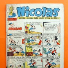 Tebeos: NICOLAS AÑO VII Nº 217 - EDITORIAL CLIPER 1948 - REVISTA SEMANAL DEL HUMOR. Lote 47351037