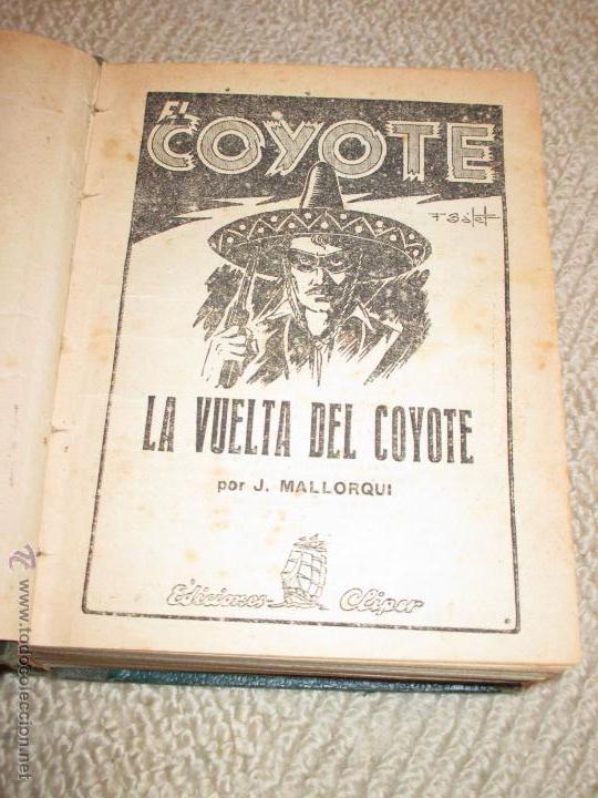 Tebeos: Dos tomos con 20 novelas de El Coyote de Cliper, contienen los primeros cinco números, 1ª Ed. - Foto 2 - 47715700