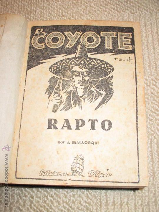 Tebeos: Dos tomos con 20 novelas de El Coyote de Cliper, contienen los primeros cinco números, 1ª Ed. - Foto 3 - 47715700