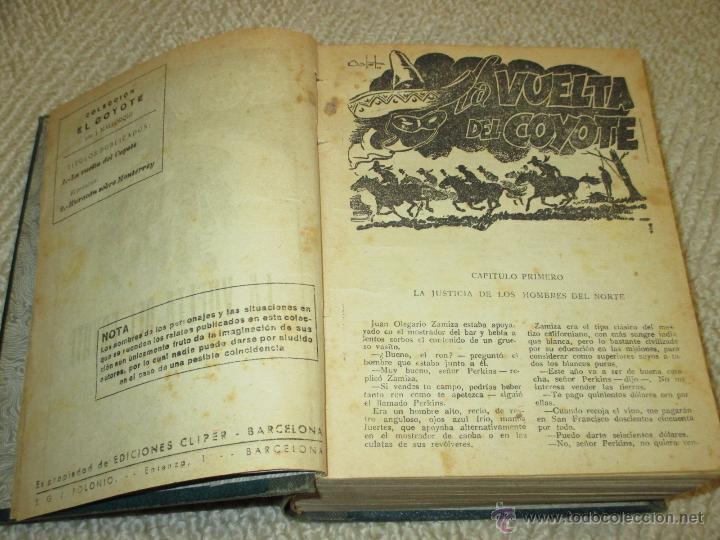 Tebeos: Dos tomos con 20 novelas de El Coyote de Cliper, contienen los primeros cinco números, 1ª Ed. - Foto 4 - 47715700