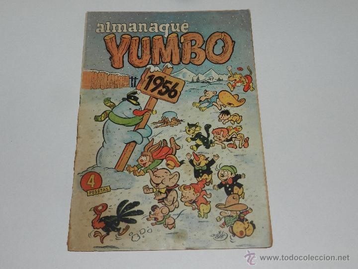 (M-9) ALMANAQUE YUMBO 1956 , EDC CLIPER, SEÑALES DE USO (Tebeos y Comics - Cliper - Yumbo)