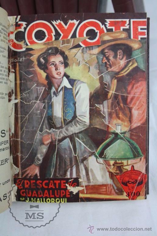 Tebeos: Colección de 10 Tomos con Números Encuadernados de El Coyote - Ed. Cliper - Incompleta - Foto 2 - 50494688