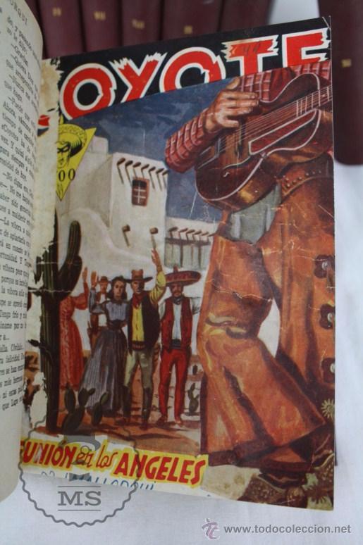 Tebeos: Colección de 10 Tomos con Números Encuadernados de El Coyote - Ed. Cliper - Incompleta - Foto 7 - 50494688