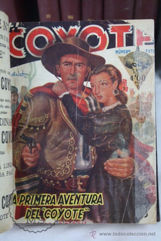 Tebeos: Colección de 10 Tomos con Números Encuadernados de El Coyote - Ed. Cliper - Incompleta - Foto 8 - 50494688