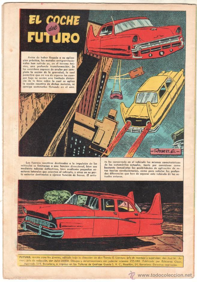 Tebeos: FUTURO ORIGINAL, COMPLETA Y SUELTA , 1 AL 20 EDICIONES CLIPER 1957, RARÍSIMO ENCONTRARLA COMPLETA - Foto 8 - 50746912