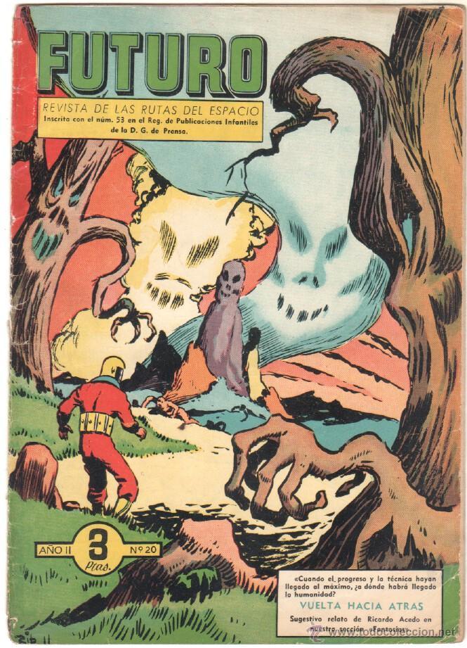 Tebeos: FUTURO ORIGINAL, COMPLETA Y SUELTA , 1 AL 20 EDICIONES CLIPER 1957, RARÍSIMO ENCONTRARLA COMPLETA - Foto 22 - 50746912