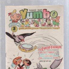 Tebeos: SEMANARIO INFANTIL YUMBO. AÑO IV. Nº 155. EDICIONES CLIPER. Lote 50955506