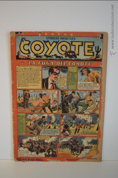 EL COYOTE 56 - LA FUGA DEL COYOTE - CLIPER - LEYENDAS INFANTILES - 1950 (Tebeos y Comics - Cliper - El Coyote)