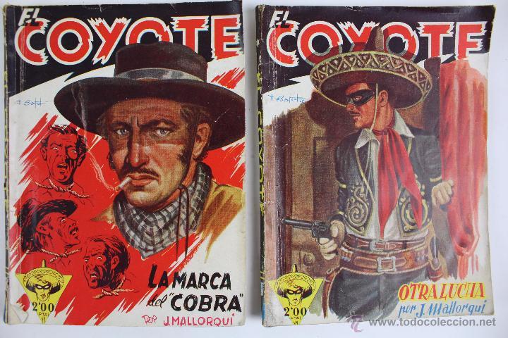 Tebeos: COM-171. EL COYOTE. LOTE DE 15 REVISTAS ,NUMEROS. 10 A 25. EDICIONES CLIPER. AÑOS CUARENTA. - Foto 2 - 52814152