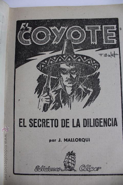 Tebeos: COM-171. EL COYOTE. LOTE DE 15 REVISTAS ,NUMEROS. 10 A 25. EDICIONES CLIPER. AÑOS CUARENTA. - Foto 11 - 52814152