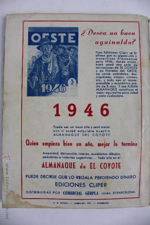 Tebeos: COM-171. EL COYOTE. LOTE DE 15 REVISTAS ,NUMEROS. 10 A 25. EDICIONES CLIPER. AÑOS CUARENTA. - Foto 16 - 52814152