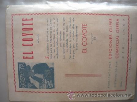 Tebeos: MAGNIFICA Y ANTIGUA NOVELA DE - EL COYOTE - LA SOMBRA DEL COYOTE - - Foto 2 - 52899135