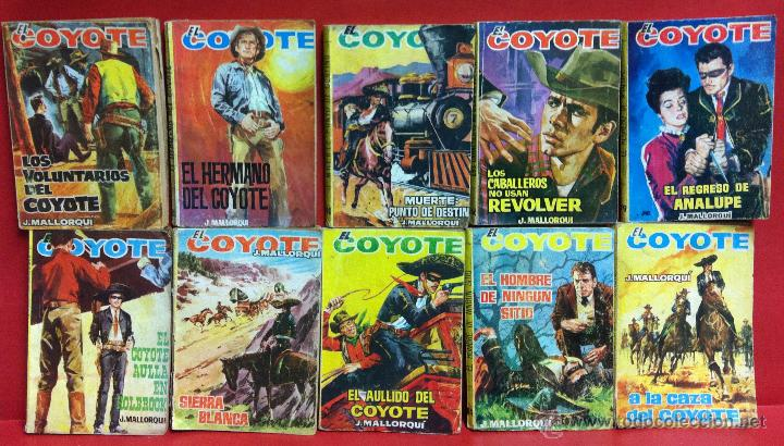 LOTE 10 LIBROS EL COYOTE- J. MALLORQUI - Nº166,90,183,96,79,91,100,187,84 Y 95 (Tebeos y Comics - Cliper - El Coyote)