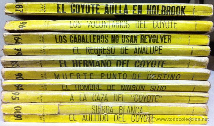 Tebeos: LOTE 10 LIBROS EL COYOTE- j. mallorqui - Nº166,90,183,96,79,91,100,187,84 Y 95 - Foto 2 - 53233519