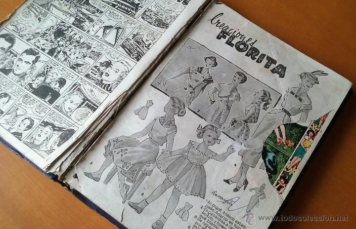 Tebeos: FLORITA. REVISTA PARA NIÑAS. AÑOS 50. TOMO XI + ALMANAQUE 1954. - Foto 5 - 54060421