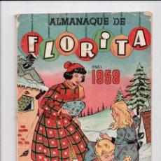 Tebeos: FLORITA ALMANAQUE 1958. Lote 54065087