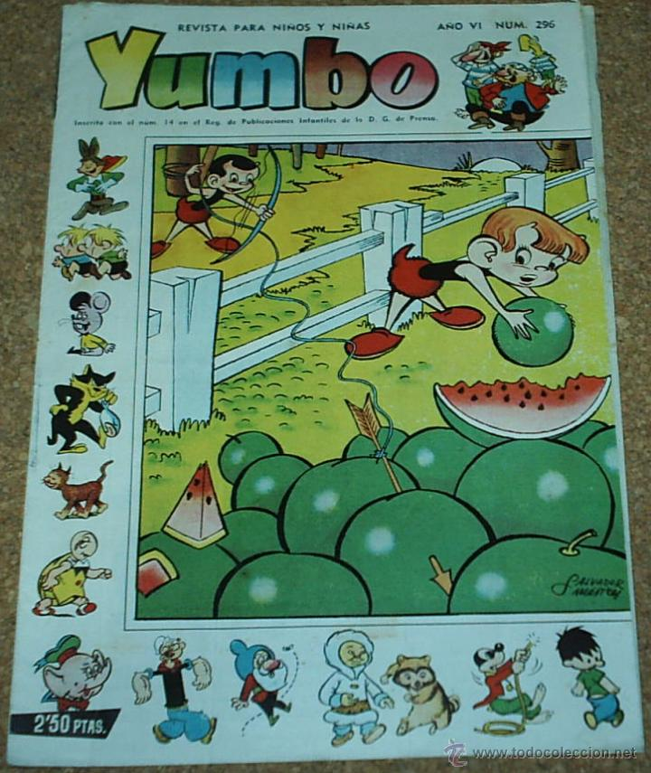 YUJMBO Nº 296 - CLIPER 1958 ORIGINAL- LEER TODO (Tebeos y Comics - Cliper - Yumbo)