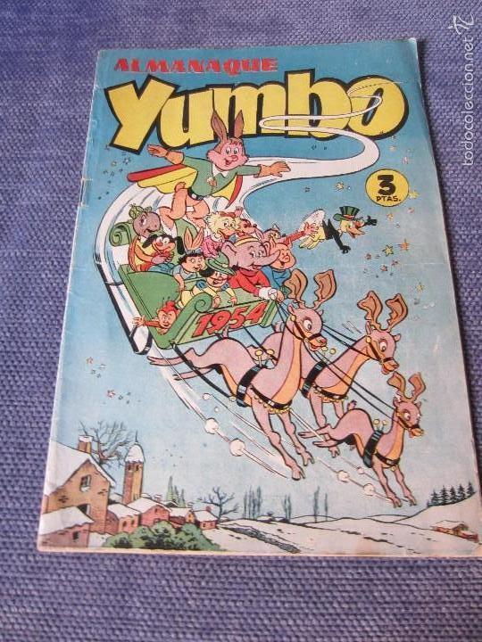 ALMANAQUE YUMBO 1954 - ED. CLIPER- ESCASO (Tebeos y Comics - Cliper - Yumbo)