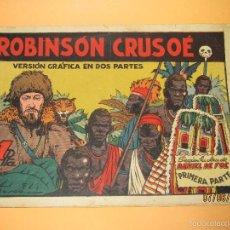 Antiguo Cuadernillo ROBINSON CRUSOE de Editorial CISNE GERPLA - Año 1940s.