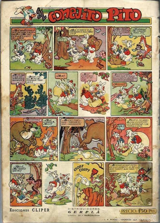Tebeos: LUPITA Nº 21 - EDICIONES CLIPER 1950 - ORIGINAL - EL AMIGO DEL PECECILLO - VER DESCRIPCION - Foto 2 - 57669592