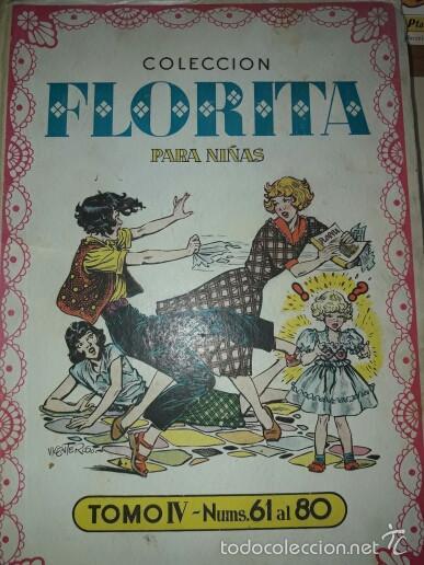TEBEO FLORITA, 380 NUMEROS, ENCUADERNACION ORIGINAL (Tebeos y Comics - Cliper - Florita)