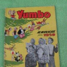 Tebeos: YUMBO - ALMANAQUE PARA 1959 - MBE - CLIPER - ORIGINAL. Lote 60651611