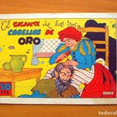Tebeos: CUADERNOS SELECTOS CISNE, Nº 52 - EL GIGANTE DE LOS TRES CABELLOS DE ORO - EDITORIAL CLIPER 1942. Lote 64474531